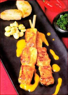 Que Cocinare Hoy?  Mis Recetas Favoritas del Libro de Recetas Nicolini: Anticuchos de Pescado - Pag. 36 - Entradas