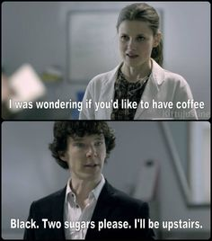 I loved this. It was really tragic for poor Molly but still funny. Sherlock. Benedict. Cumberbatch.