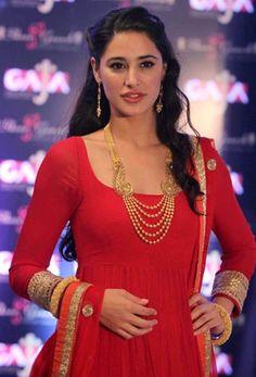 @Nargis in beautiful Anarkali and GAjA Gold Jewelry