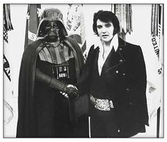 ~Elvis~ - elvis-presley photo  Elvis got to meet Darth Vadar before he died, awesome.  1977!