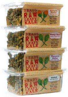 [un]guilty pleasure for afternoon snack attacks: Brad's Raw Leafy Kale #vegan #glutenfree #healthy