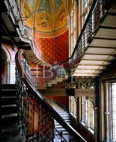 The sumptuous gothic revival interior of the St Pancras Hotel and Chambers, London. KR (The Midland Grand Hotel designed by Sir George Gilbert Scott in photographed in Space Interiors, Grand Hotel, The St, Stairs, London, Explore, Dream Houses, Architecture, World