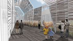 #Cereals & #Tubers: Old and New Crops. A field planted with cereals and tubers flows like a river in this #ClusterExpo, guiding the visitor towards a great covered space which houses group activities. #Expo2015