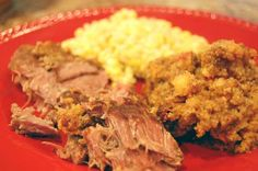 southwestern steak and cornbread dressing: About 2 lbs. sirloin tip steak or round steak or other beef cut      1 box cornbread stuffing mix      1 can tomatoes with green chilis, undrained      1/2 stick butter (4 Tbs), melted