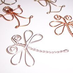 Angels Dragonflies and Butterflies . Wire Embellishments for Scrapbooks, Cards and Crafting. $3.00, via Etsy.