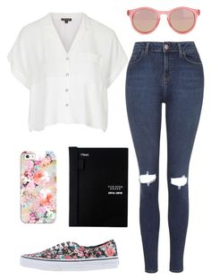 """""""Back to School in Florals"""" by bncollege on Polyvore featuring Topshop, Vans, Casetify and Le Specs"""