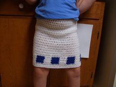 Free Girl's Color Block Skirt Crochet Pattern - Orble