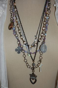 LaYeRs RoSaRy StyLe NeCkLace by bellablissdesigns on Etsy, $65.00