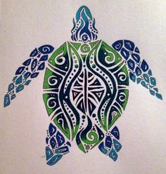 I really like the colors and art but would want a different angle of the turtle Tribal Sea Turtle by TheRebornWolf.deviantart.com
