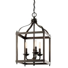 Kichler 42566ACO Antique Copper Larkin 3-Bulb Indoor Pendant - LightingDirect.com $248.00