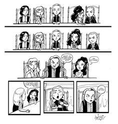 Lucius Malfoy Bellatrix Lestrange Narcissa Snape Yaxley Comic Fanart Harry Potter Deatheaters
