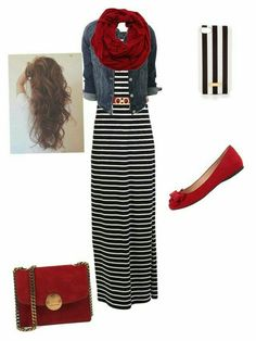 A fashion look from March 2015 featuring Vila Milano dresses, Jessica Simpson flats and Henri Bendel tech accessories. Browse and shop related looks. Fashion Mode, Modest Fashion, Womens Fashion, Mode Outfits, Casual Outfits, Fashion Outfits, Hijab Casual, Maxi Skirt Outfits, Maxi Skirts