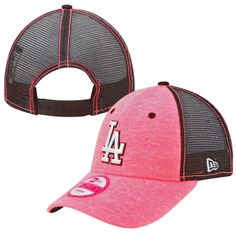 3e595e27065 New Era L.A. Dodgers Ladies 9FORTY Neon Tri-Blend Adjustable Trucker Hat –  Pink