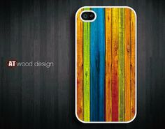 Colorized Wood iPhone Case
