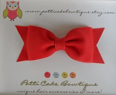 Toddler Hair Bow - Baby Hair Bow -Christmas Red Tuxedo Hair Bow - Girl Hair bow - Hair Clip - Christmas Hair Bow - Holiday Hairbow. $3.50, via Etsy.