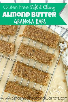 The best Gluten Free Almond Butter Granola Bars…and they are soft and chewy too!!!