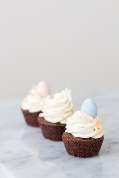 Brownie Bites with Coconut Buttercream, Easter recipe, Easter dessert, Cadbury eggs, baking blog, Treats and Trends