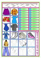 CLOTHES AND SEASONS-PICTIONARY worksheet - Free ESL printable worksheets made by teachers