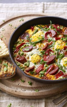 Liven up your brunch with Flamenco eggs! Starring chorizo, jamon and hot smoked paprika - there'll be no stopping you!