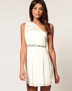 ASOS One Shoulder Dress with Embellished Waist  $72.99- lots of cute, inexpensive dresses on this site
