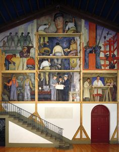 The Making of a Fresco Showing the Building of a City, 1931 - Diego Rivera