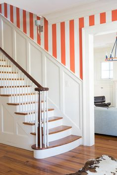 Decorating With Stripes Striped Wall Charleston Weekender Home Tour