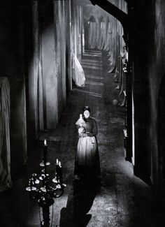 """Martha Mattox in The Cat and the Canary (1927, dir. Paul Leni) """"I have tried to create sets so stylized that they evince no reality…It is not extreme reality that the camera perceives, but the reality..."""