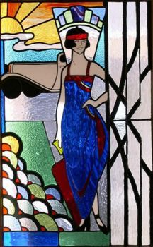 Stained Glass  ~  Art Deco Style (77 pieces)
