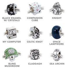 European-Style Charm Bracelet, two new beads added: Sea Urchin & Claddagh!