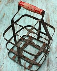 Milkman's delivery basket.