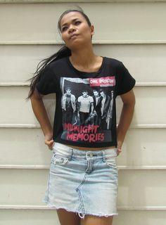 One Direction Midnight Memories Ladies Crop Top by beRareClothing, ฿15.99