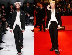 Tilda Swinton In Schiaparelli Couture – 'The Grand Budapest Hotel' Berlinale Film Festival Premiere