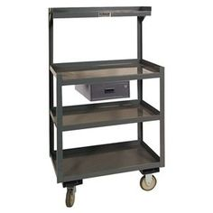 Steel Cart, 1200 Lbs, 4 Shelves, 1 Drawer by Durham. $502.41. Mobile WorkbenchAll Welded Steel Construction, Gray Powder Coat Finish, GrayCaster Type (2) Rigid, (2) SwivelIncludes 1 Lockable Drawer and 2 Keys