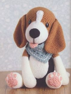 100 Amigurumi Crochet Dogs Patterns - Amigurumi World Amigurumi knitting toy dog models, all pretty nice toy dog models knitting recipes are waiting for you. Beagle - My WordPress Website In this article we will introduce you the best models of amigurumi Crochet Dog Patterns, Amigurumi Patterns, Knitting Patterns, Amigurumi Tutorial, Crochet Appliques, Blanket Patterns, Doll Patterns, Flower Patterns, Cute Crochet