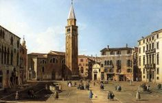 Gabriele Bella's view of the Campo Sant'Angelo.