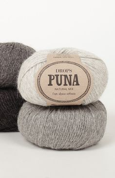 DROPS Puna is a soft, light and beautifully warm yarn made from superfine alpaca that's perfect for almost any kind of garment - and that feels wonderful. Drops Karisma, Garnstudio Drops, Alpaca Wool, Wool Yarn, Easy Knitting, Knitting Yarn, Laine Drops, Yarn Brands, Drops Design