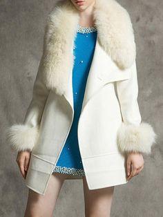 Shop Coats & Jackets - Beige Casual Wool Blend Wool & Blend online. Discover unique designers fashion at PopJuLia.com.