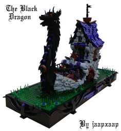 Cool Lego, Awesome Lego, Lego Ship, Black Dragon, Lego Moc, Battleship, Medieval, Photo And Video, Ships