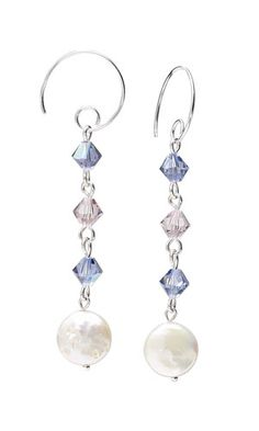 Earrings with SWAROVSKI ELEMENTS and Cultured Freshwater Pearls