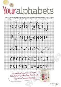 Your Alphabet from Cross Stitcher Magazine No.255 Aug. 2012