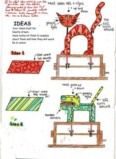 Mechanical Toy Project (Year 9) by Kevin Rhodes, via Behance