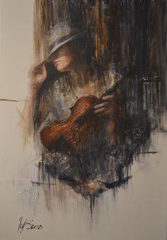 """Melancholia II"" 36"" x 24"" Rémi LaBarre - Art Artist Montreal, Quebec"
