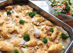 lindastuhaug - lidenskap for sunn mat og trening Love Food, A Food, Meat Chickens, Pasta Salad, Healthy Recipes, Dinner, Ethnic Recipes, Blogging, Crab Pasta Salad
