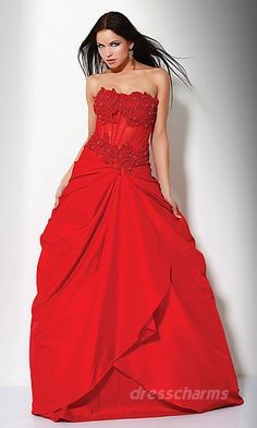 Red flower prom dress!
