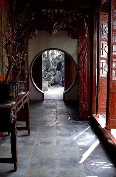 Suzhou Jade Window Asian Interior Design, Chinese Interior, Interior And Exterior, Suzhou, China Architecture, Interior Architecture, Photo Japon, Traditional Chinese House, Old Shanghai