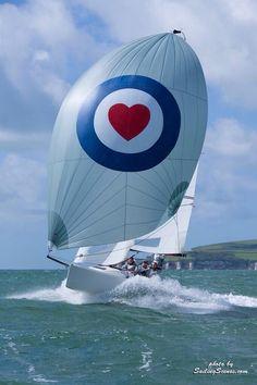 J70 in full sail - very fun little boat