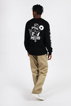 Pelvis, Disc Service Longsleeve T-Shirt - black