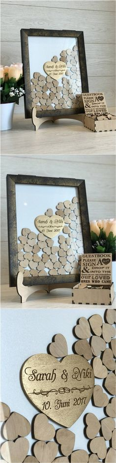 Drop top wood wedding guest wishes box / http://www.deerpearlflowers.com/rustic-wedding-guest-book-ideas/