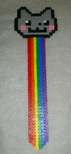 Marcalibros gato arcoiris