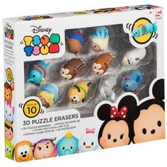 Tsum Tsum 3D Puzzle Erasers 10pk - An adorable addition to your school stationery